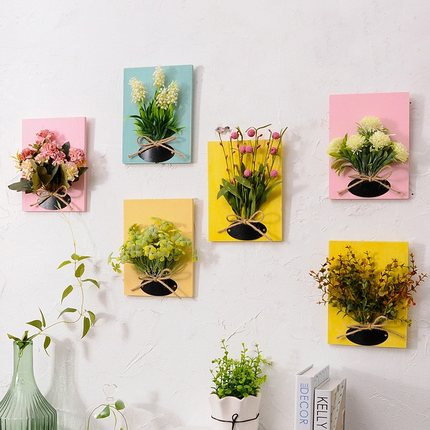 မိမိတို့ဆိုင်(သို့)အိမ်ဧည့်ခန်းများကိုလှပစေရန်အတွက်ဒီဇိုင်းပုံဖော်ပြုလုပ်ထားသော နံရံကပ်အလှပန်းစီး